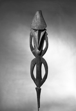 Ancestral Figure, late 19th-early 20th century. Wood, 51 9/16 x 9 1/2 in.  (131 x 24.1 cm). Brooklyn Museum, Brooklyn Museum Collection, X357. Creative Commons-BY