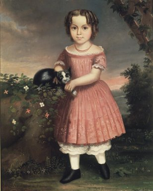 Probably Charles Winter (American, born ca. 1825). Portrait of a Child Holding a Cat, 1851. Oil on canvas, 36 3/16 x 29 1/8 in. (91.9 x 73.9 cm). Brooklyn Museum, Brooklyn Museum Collection, X504.3