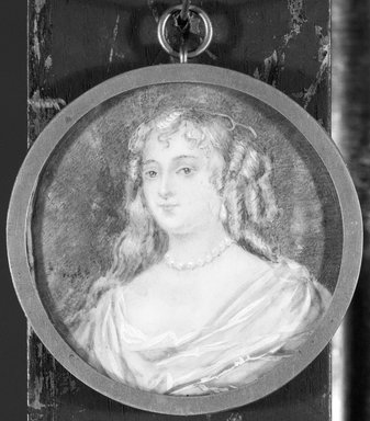 Charles Edward Wagstaff (born England, 1808, active in America from 1840-after 1851). Portrait of a Young Lady, n.d. Watercolor on ivory portrait in metal locket under glass lens, Image (sight): 2 x 2 in. (5.1 x 5.1 cm). Brooklyn Museum, Brooklyn Museum Collection, X512