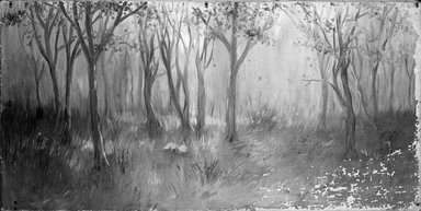 Unknown. Landscape (Trees)., unframed:  30 x 15 in.  (76.2 x 38.1 cm). Brooklyn Museum, Brooklyn Museum Collection, X525