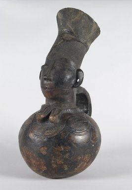 Mangbetu. Anthropomorphic Vessel, early 20th century. Terracotta, 16 3/8 x 7 7/8 x 4 3/8 in. (41.5 x 20.0 x 12.0 cm). Brooklyn Museum, Brooklyn Museum Collection, X601. Creative Commons-BY