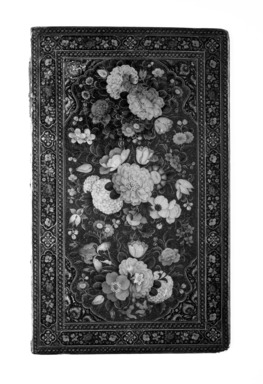 Mirror Case Cover, 1854-1855. Lacquer, paper mache, 6 x 10 in.  (15.2 x 25.4 cm). Brooklyn Museum, Brooklyn Museum Collection, X627.1