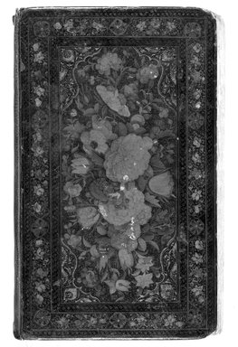 Book binding, mid 19th century. Lacquer, paper mache, 4 3/4 x 8 1/8 in.  (12.1 x 20.6 cm). Brooklyn Museum, Brooklyn Museum Collection, X627.3