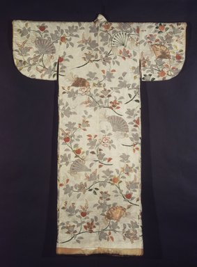 Noh Robe, 18th century. Embroidered rinzu, 61 1/4 x 48 in.  (155.6 x 121.9 cm). Brooklyn Museum, Brooklyn Museum Collection, X640.1. Creative Commons-BY