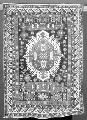 Rug, 18th or 19th century. Polychrome wool, 68 x 47 3/4 in.  (172.7 x 121.3 cm). Brooklyn Museum, Brooklyn Museum Collection, X644. Creative Commons-BY