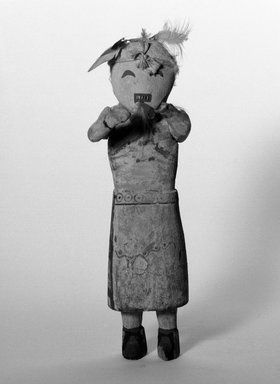 Hopi Pueblo (Native American). Kachina Doll, 1901-1933. Wood, leather, feathers, painted, 11 1/2 in. (29.2 cm). Brooklyn Museum, Brooklyn Museum Collection, X667. Creative Commons-BY