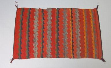 Navajo (Native American). Women's Germantown Shoulder Blanket or Saddle Blanket, ca. 1880. Wool, dye, 50 x 30 1/2in. (127 x 77.5cm). Brooklyn Museum, Brooklyn Museum Collection, X670. Creative Commons-BY