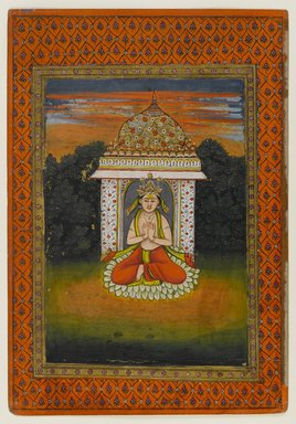 Indian. Miniature Painting, Enshrined Deity, First half of 18th Century. Opaque watercolors on paper, 10 5/8 x 7 3/8 in. (27 x 18.7 cm). Brooklyn Museum, Brooklyn Museum Collection, X689.3