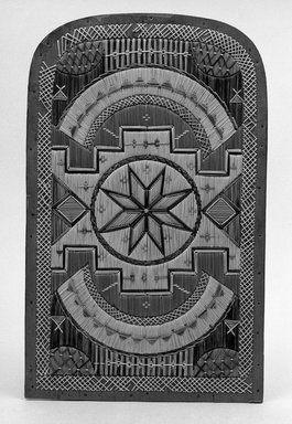 Micmac (Native American). Rectangular Panel with Geomentric Quill Design. Birchbark Brooklyn Museum, Brooklyn Museum Collection, X690. Creative Commons-BY