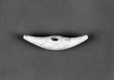 Eskimo (Native American). Charm or Toggle, late 19th-early 20th century. Ivory, hide, 2 1/2 x 5/8 in. or (6.5 cm). Brooklyn Museum, Brooklyn Museum Collection, X705.1. Creative Commons-BY