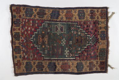 Kuba Rug, 20th century. Wool, Old Dims: 51 x 37 in. (129.5 x 94 cm). Brooklyn Museum, Brooklyn Museum Collection, X736.3. Creative Commons-BY
