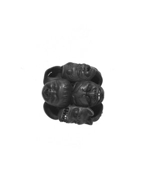 Mask Netsuke, 19th century. Wood, 1 3/8 in. (3.5 cm). Brooklyn Museum, Brooklyn Museum Collection, X747.3. Creative Commons-BY