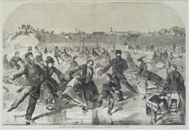 Winslow Homer (American, 1836-1910). Skating on the Ladies' Skating Pond in the Central Park, New York. Wood engraving Brooklyn Museum, Brooklyn Museum Collection, X757.1