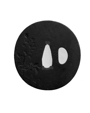 Tsuba (Sword Guard), 19th century. Iron, iroe, 2 3/4 in. (7 cm). Brooklyn Museum, Brooklyn Museum Collection, X759.11. Creative Commons-BY