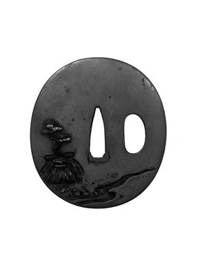 Tsuba (Sword Guard), 19th century. Copper alloy, iroe, 2 9/16 x 2 3/8 in. (6.5 x 6 cm). Brooklyn Museum, Brooklyn Museum Collection, X759.5. Creative Commons-BY