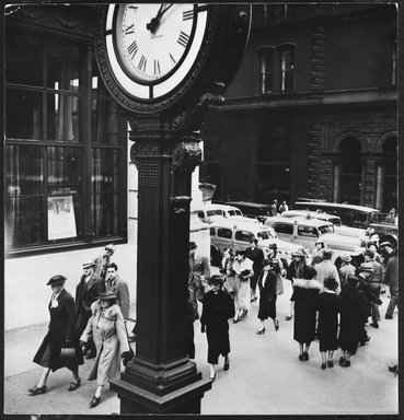 Berenice Abbott (American, 1898-1991). Tempo of the City I, May 13, 1938. Gelatin silver photograph, 7 9/16 x 7 5/16 in. (19.2 x 18.6 cm). Brooklyn Museum, Brooklyn Museum Collection, X858.28