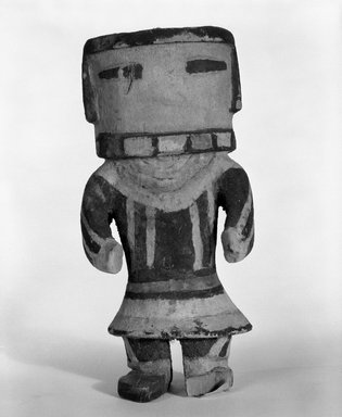 Hopi Pueblo (Native American). Kachina Doll (Ang-ak-china?), 1868-1900. Wood, pigment, 6 5/16 x 2 15/16 in. (16 x 7.5 cm). Brooklyn Museum, Brooklyn Museum Collection, X862.2. Creative Commons-BY