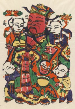 Charm, 20th century. Woodblock print, 16 1/2 x 10 in. (41.9 x 25.4 cm). Brooklyn Museum, Brooklyn Museum Collection, X863.6