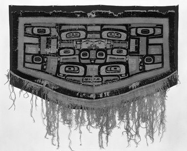Tlingit (Native American). Chilkat Blanket, late 18th-early 19th century. Cedar bark, mountain goat wool, 31 1/2 x 56 3/8 in. (80 x 143.2 cm). Brooklyn Museum, Brooklyn Museum Collection, X867. Creative Commons-BY