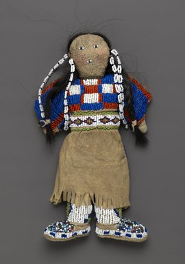 Plains (Native American). Doll, 20th century. Cloth, buckskin, bead, 8 1/2 x 5 in. (21.6 x 12.7 cm). Brooklyn Museum, Brooklyn Museum Collection, X885. Creative Commons-BY