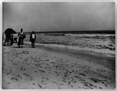 Breading G. Way (American, 1860-1940). Beach at Coney Island, Brooklyn, ca. 1888. Gelatin silver photograph, 10 7/8 x 13 7/8 in. (27.6 x 35.3 cm). Brooklyn Museum, Brooklyn Museum Collection, X892.15