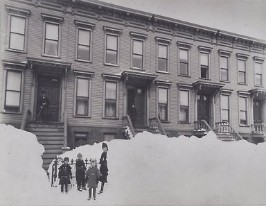 Breading G. Way (American, 1860-1940). Blizzard of March 1888, Brooklyn, 1888. Gelatin silver photograph, Sheet: 11 x 14 in. (27.9 x 35.6 cm). Brooklyn Museum, Brooklyn Museum Collection, X894.114