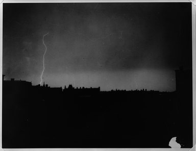 Breading G. Way (American, 1860-1940). Lightning Over Brooklyn, 1880's. Gelatin silver photograph Brooklyn Museum, Brooklyn Museum Collection, X894.116
