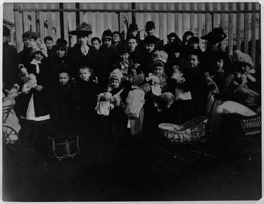 Breading G. Way (American, 1860-1940). Children & Dolls, Brooklyn 1880's. Gelatin silver photograph Brooklyn Museum, Brooklyn Museum Collection, X894.117