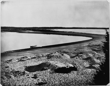 George Bradford Brainerd (American, 1845-1887). Sandy Spit, ca. 1880s, printed 1940s. Gelatin silver photograph, sheet: 11 x 14 in. (27.9 x 35.6 cm). Brooklyn Museum, Brooklyn Museum Collection, X894.154