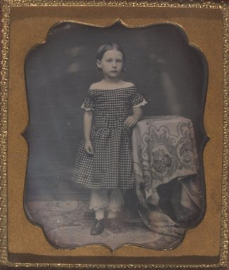Unknown. Standing Young Girl, n.d. Daguerreotype, Image (sight): 2 3/4 x 2 1/4 in. (7 x 5.7 cm). Brooklyn Museum, Brooklyn Museum Collection, X894.8