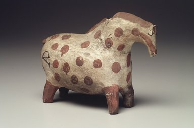 Haak'u (Acoma Pueblo) (Native American). Vessel in the Shape of a Horse, 1801-1900. Clay, slip, 6 3/4 x 4 7/8 x 3 in. (17.1 x 12.4 x 7.6 cm). Brooklyn Museum, Brooklyn Museum Collection, X898.8. Creative Commons-BY