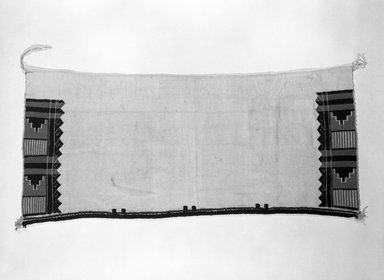 Pueblo (Native American). Embroidered Dance Kilt, 1868-1933. Cotton, yarn, twine, 47 x 22 in.  (119.4 x 55.9 cm). Brooklyn Museum, Brooklyn Museum Collection, X910. Creative Commons-BY