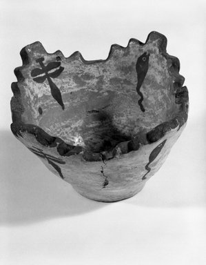 She-we-na (Zuni Pueblo) (Native American). Prayer Meal Bowl, late 19th century. Clay, pigment, 2 13/16 x 4 7/8 in. (7.2 x 11.7 cm). Brooklyn Museum, Brooklyn Museum Collection, X922.5. Creative Commons-BY