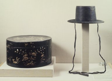 Brooklyn Museum: Official's Top Hat (Gat) and Hat Case