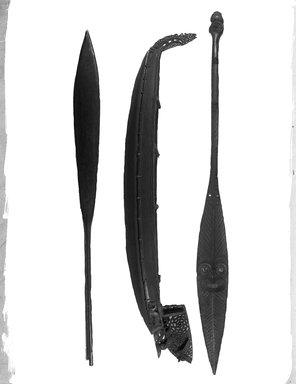 Maori. War Canoe (Waka taua) Model, 1860-1880. Wood, 5 x 12 x 62 5/8 in.  (12.7 x 30.5 x 159.0 cm). Brooklyn Museum, Brooklyn Museum Collection, X262. Creative Commons-BY