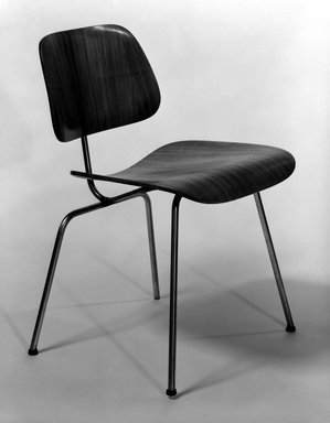 Charles Eames (American, 1907-1978). DCM (Dining Chair Metal), Designed 1946. Birch plywood, metal, 29 1/4 x 19 1/2 x 22 3/4 in. (74.3 x 49.5 x 57.8 cm). Brooklyn Museum, Brooklyn Museum Collection, X748. Creative Commons-BY