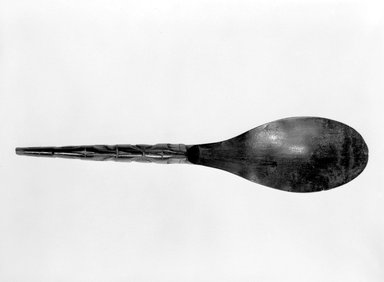 Eskimo (Native American). Spoon, 1901-1933. Mountain goat horn, 9 3/8 x 2 1/8in. (23.8 x 5.4cm). Brooklyn Museum, Brooklyn Museum Collection, X844.14. Creative Commons-BY