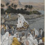 Jesus Sits by the Seashore and Preaches (J&eacute;sus sassied au bord de la mer et pr&ecirc;che)