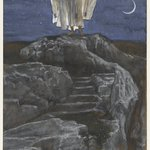 Jesus Goes Up Alone onto a Mountain to Pray (Jésus monte seul sur une montagne pour prier)