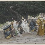 The Pharisees and the Saduccees Come to Tempt Jesus (Les pharisiens et les saduc&eacute;ens viennent pour tenter J&eacute;sus)