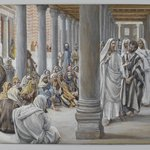 Jesus Walks in the Portico of Solomon (Jésus se promène dans le portique de Salomon)