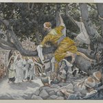 Zacchaeus in the Sycamore Awaiting the Passage of Jesus (Zach&eacute;e sur le sycomore attendant le passage de J&eacute;sus)
