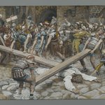 Simon the Cyrenian Compelled to Carry the Cross with Jesus (Simon de Cyr&egrave;ne contraint de porter la Croix avec J&eacute;sus)