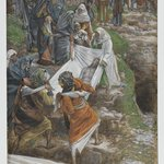 The Body of Jesus Carried to the Anointing Stone (Le corps de J&eacute;sus port&eacute; &agrave; la pierre de lonction)