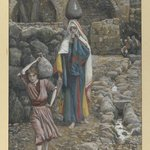 Jesus and his Mother at the Fountain (Jésus et sa mère à la fontaine)