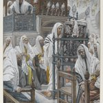Jesus Unrolls the Book in the Synagogue (J&eacute;sus dans la synagogue d&eacute;roule le livre)
