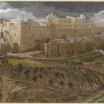 Reconstruction of the Temple of Herod, Southeast Corner (Reconstitution du temple dHérode. Angle sud-est.)
