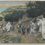 Jesus Heals the Blind and Lame on the Mountain (Sur la montagne Jésus guérit les aveugles et les boiteux)