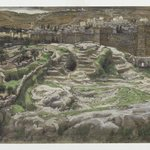 Reconstruction of Golgotha and the Holy Sepulchre, Seen from the Walls of Herods Palace (Reconstitution du Golgotha et du Saint-Sépulcre. Vu des murs du palais dHérode.)