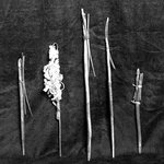 Bundle of White Cord from Medicine Bundle (aze jish)